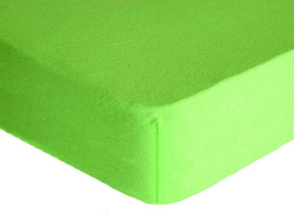 Forbyt, Prostěradlo, Froté Premium, zelené 70 x 140 cm