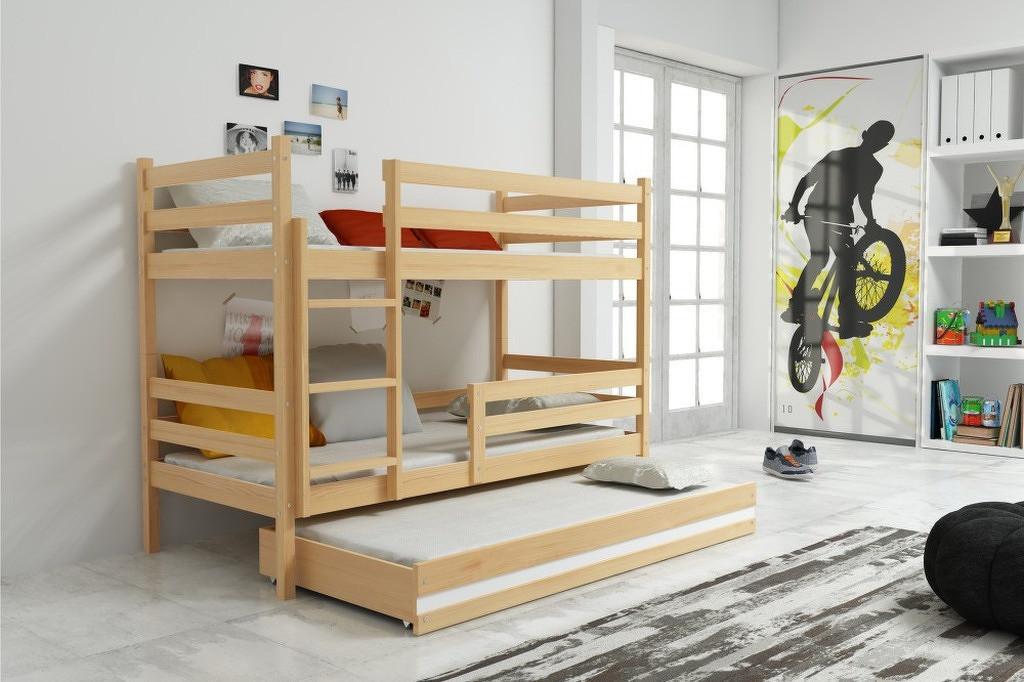 Falco Patrová postel s přistýlkou Norbert borovice