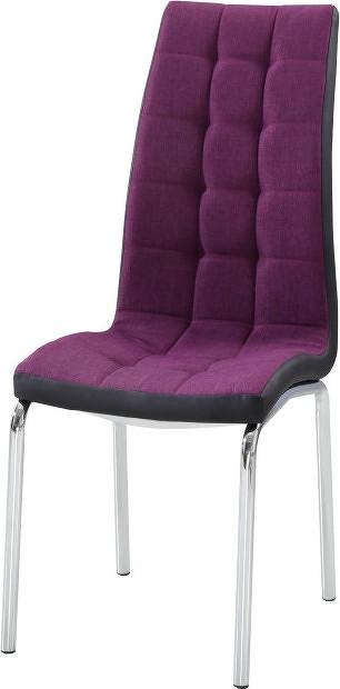 Tempo Kondela Jídelní židle GERDA NEW - fialová / černá + kupón KONDELA10 na okamžitou slevu 10% (kupón uplatníte v košíku)