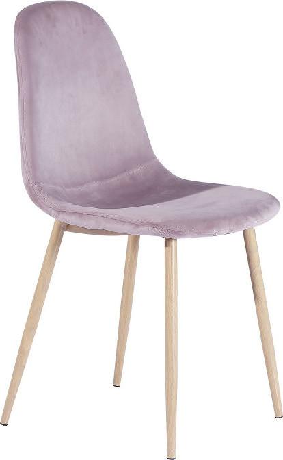 Tempo Kondela Židle Makaria - růžová látka / kov s povrchovou úpravou buk