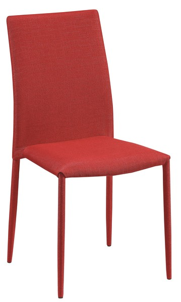 Jídelní židle Doris, červená látka