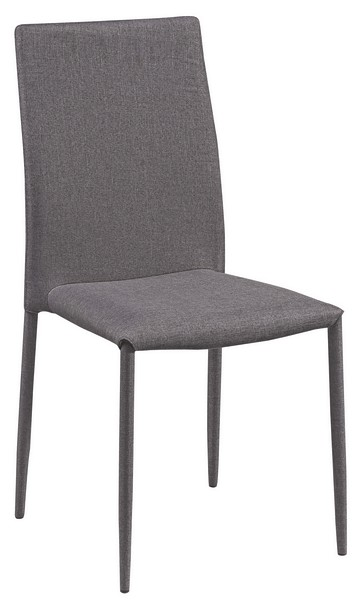 Jídelní židle Doris, šedá látka