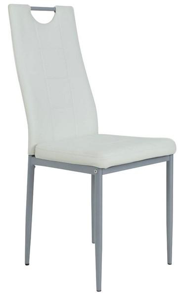 Jídelní židle Kim, bílá ekokůže