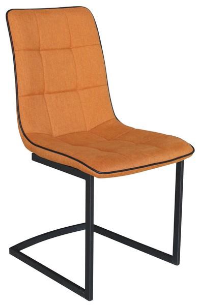 Jídelní židle Ravenna, oranžová látka