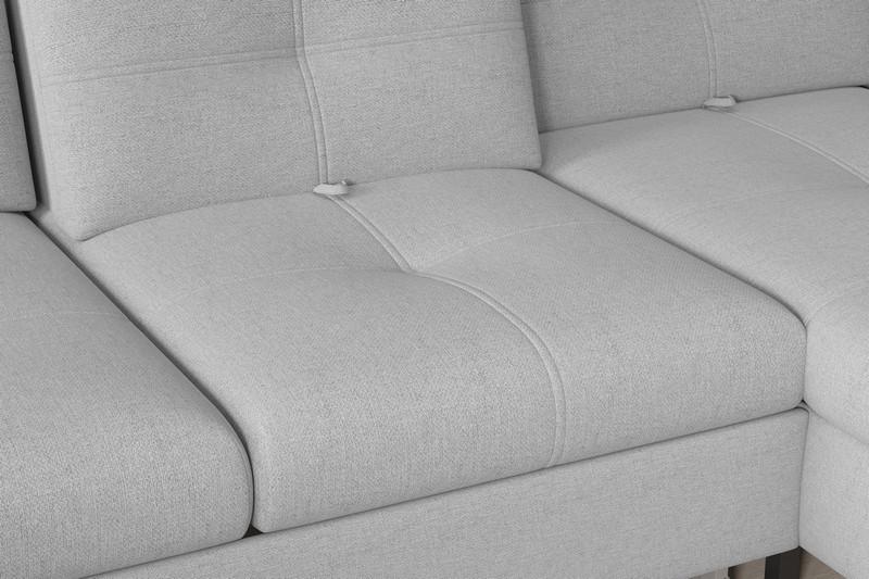 Rohová sedací souprava Candy 2F-OT, světle šedá látka
