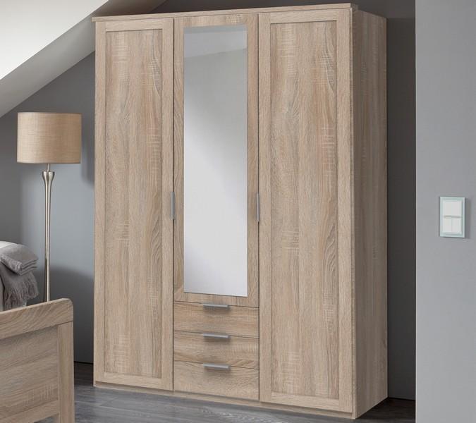 Šatní skříň Nadja, 135 cm, dub sonoma
