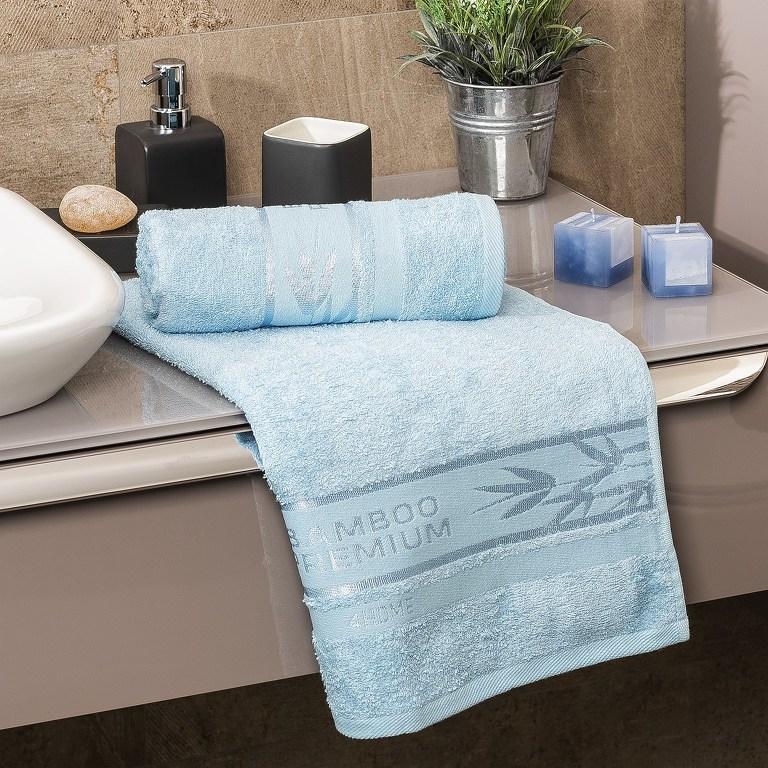 9fd15f7962e4 4Home Bamboo Premium ručník světle modrá