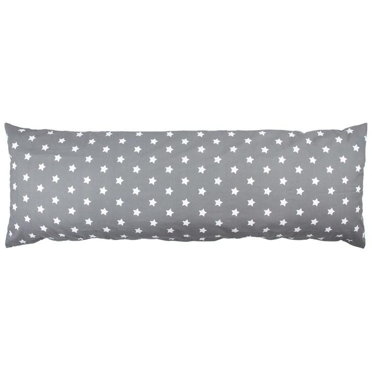 4Home povlak na Relaxační polštář Náhradní manžel Stars šedá, 50 x 150 cm