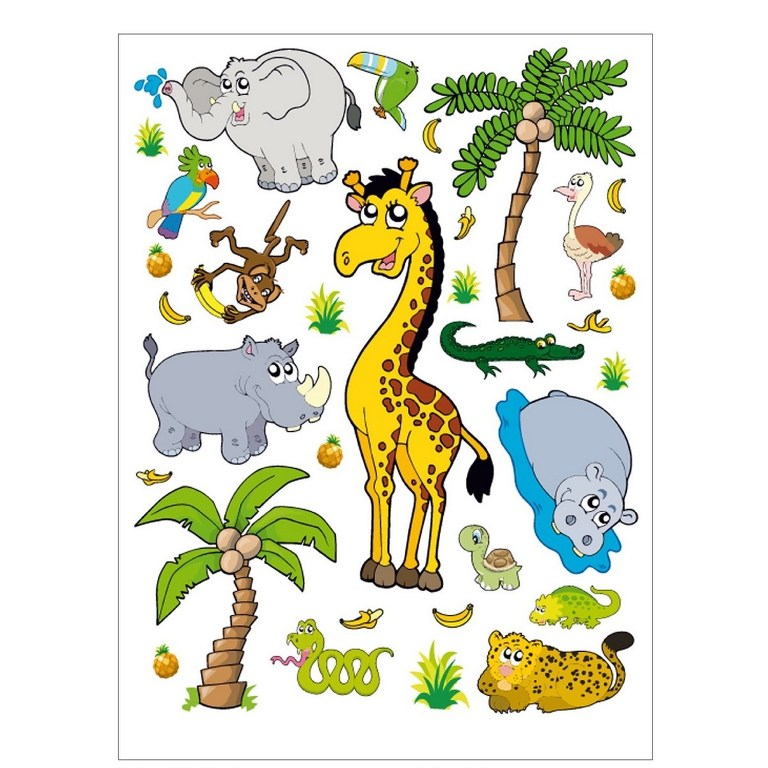 AG Art Samolepicí dekorace Džungle, 45,5 x 65 cm