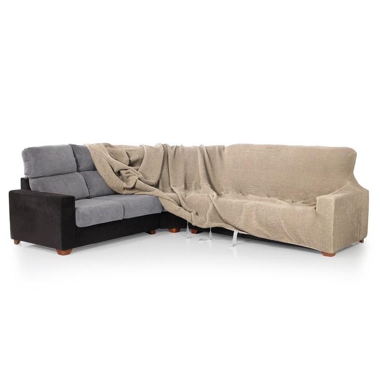 Forbyt Multielastický potah na rohovou sedací soupravu Contra teracotto, 340 - 540 cm