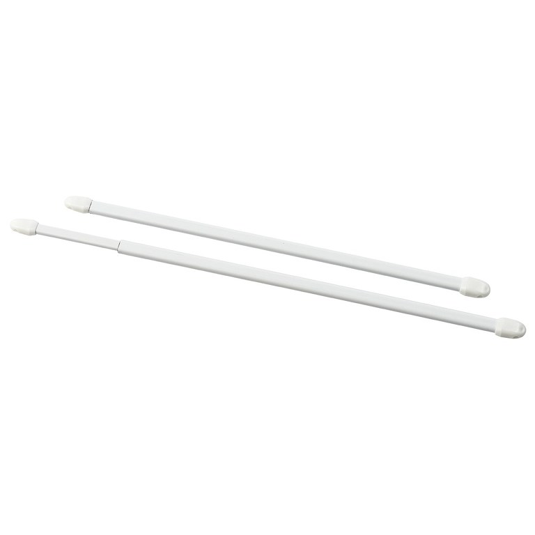 Gardinia Vitrážní tyčka plochá, bílá, 2 ks, 80 -100 cm