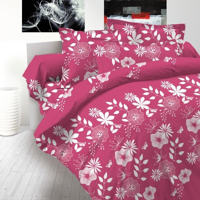 Kvalitex bavlněné povlečení delux Coccona růžová, 140 x 220 cm, 70 x 90 cm