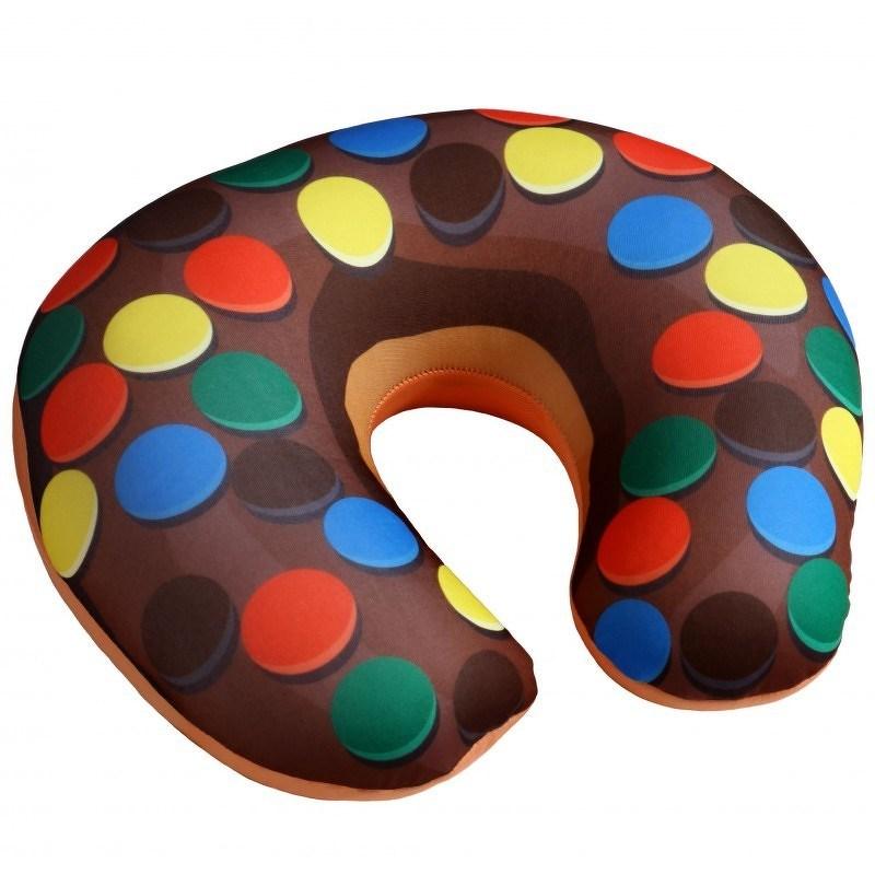 Modom Cestovní polštářek Donut lentilky, 30 x 30 cm