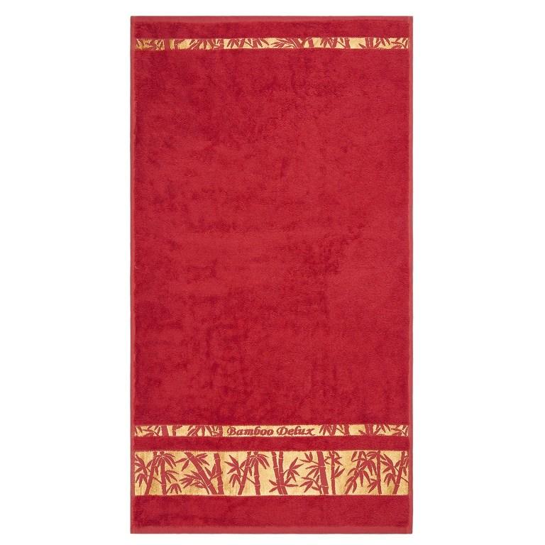 Night in Colours Ručník Bamboo Gold červená, 50 x 90 cm