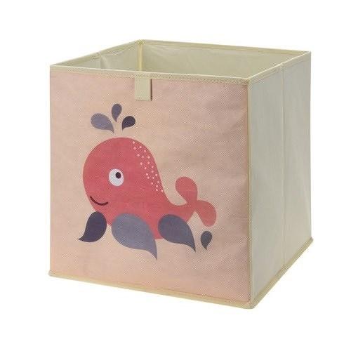 Úložný box na hračky 32 x 32 x 30 cm, velryba