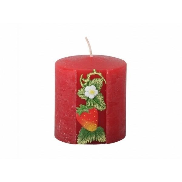 d021e8b4ab4 Vyřezávaná svíčka Jahoda