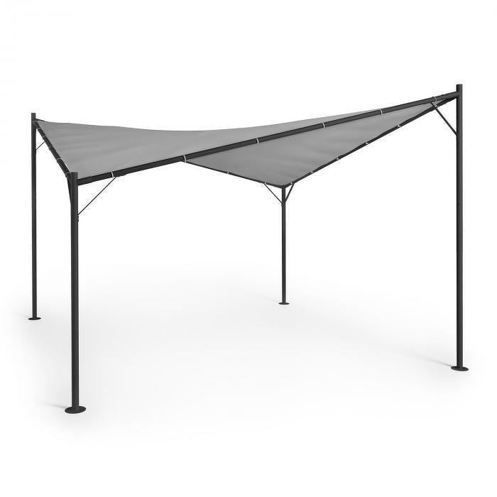 Blumfeldt Sombra, pergola, kompletní sada, 4x4m, polyesterová střecha, šedá