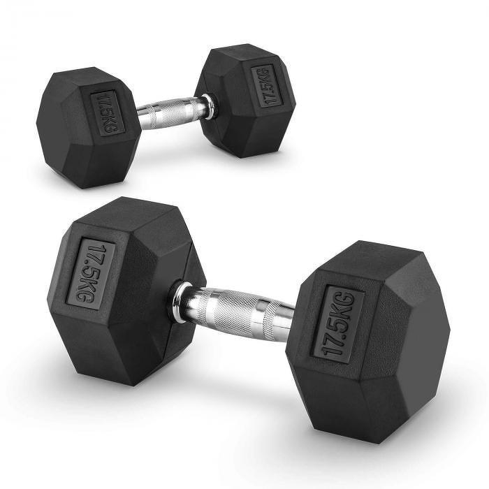 Capital Sports Hexbell 17,5, 17,5kg, dvojice krátké ruční činek (Dumbbell)