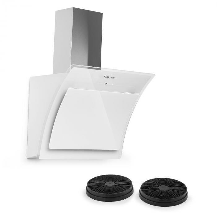 Klarstein Sabia 60, odsavač par, digestoř, 60 cm, 2 x filtr s aktivním uhlím, bílý