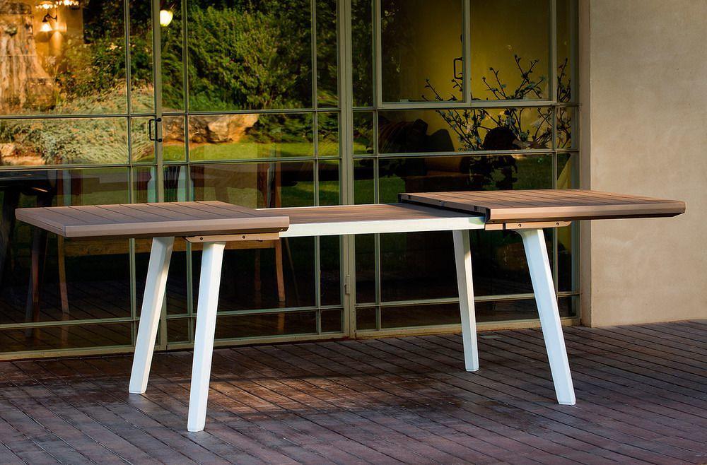 Allibert 41401 Zahradní rozkládací stůl HARMONY grafit+šedohnědý