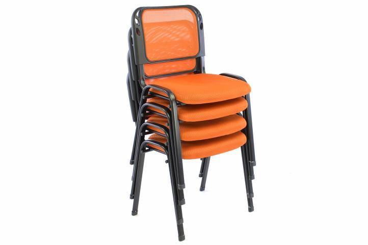 Garthen 40777 Sada 2 stohovatelných kongresových židlí - oranžová
