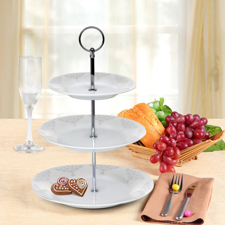 Banquet stojan na curkoví porcelánový BAROCCO 3patrový