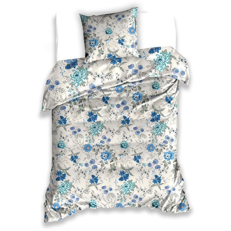 Bavlněné  povlečení CHRPY modré 140 x 200 cm, 70 x 90 cm