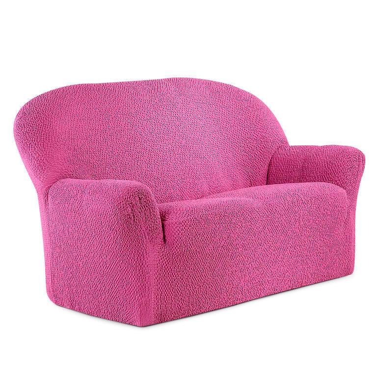 GA.I.CO decoDoma napínací potahy na sedací soupravu bielastický BUKLÉ růžová na sedačku - trojkřeslo 170 - 220 cm