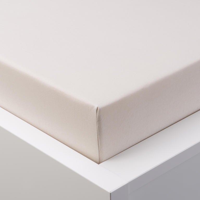 Hermann Cotton Napínací prostěradlo jersey GRAND latté 180 x 200 cm