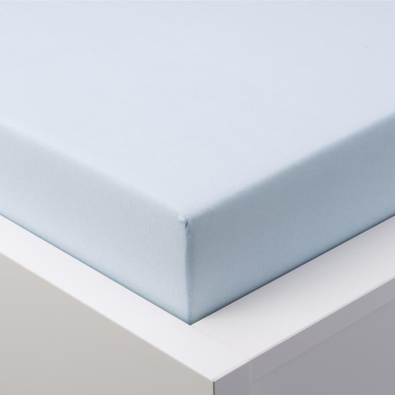 Hermann Cotton Napínací prostěradlo jersey GRAND ledově modré 90 - 100 x 200 cm