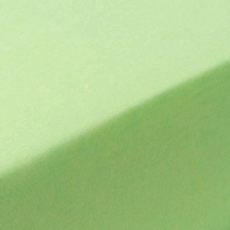 Hermann Cotton Napínací prostěradlo jersey GRAND zelené jablko 90 - 100 x 200 cm 2 ks