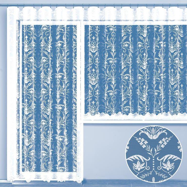 Hotová žakárová záclona VIRGINIA - balkonový komplet