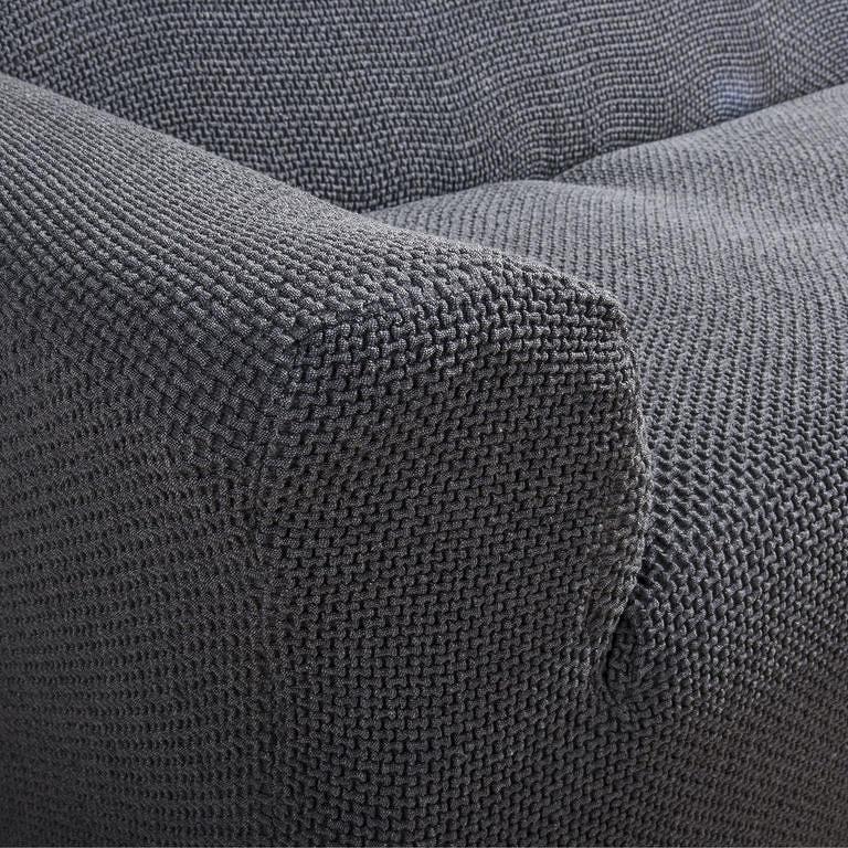 Nueva Textura decoDoma napínací potah na křeslo multielastický CARLA šedé křeslo ušák 60 - 100 cm