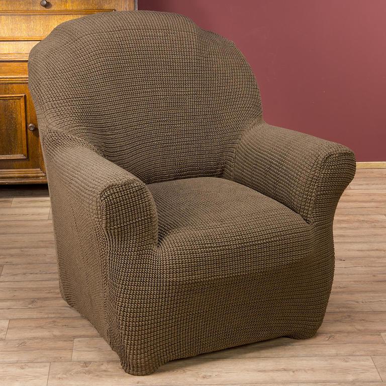Nueva Textura decoDoma napínací potahy na sedací soupravu strečový GLAMOUR tabákové na sedačku - trojkřeslo 180 - 220 cm