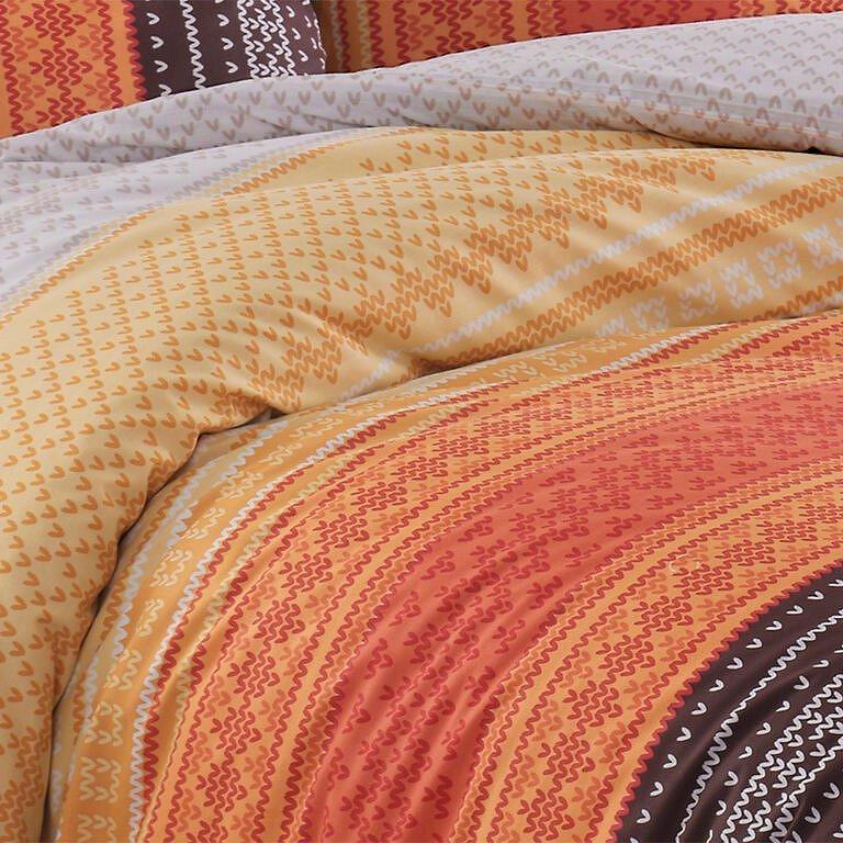 TipTrade bavlna povlečení Summer Oranžové 140x220 70x90