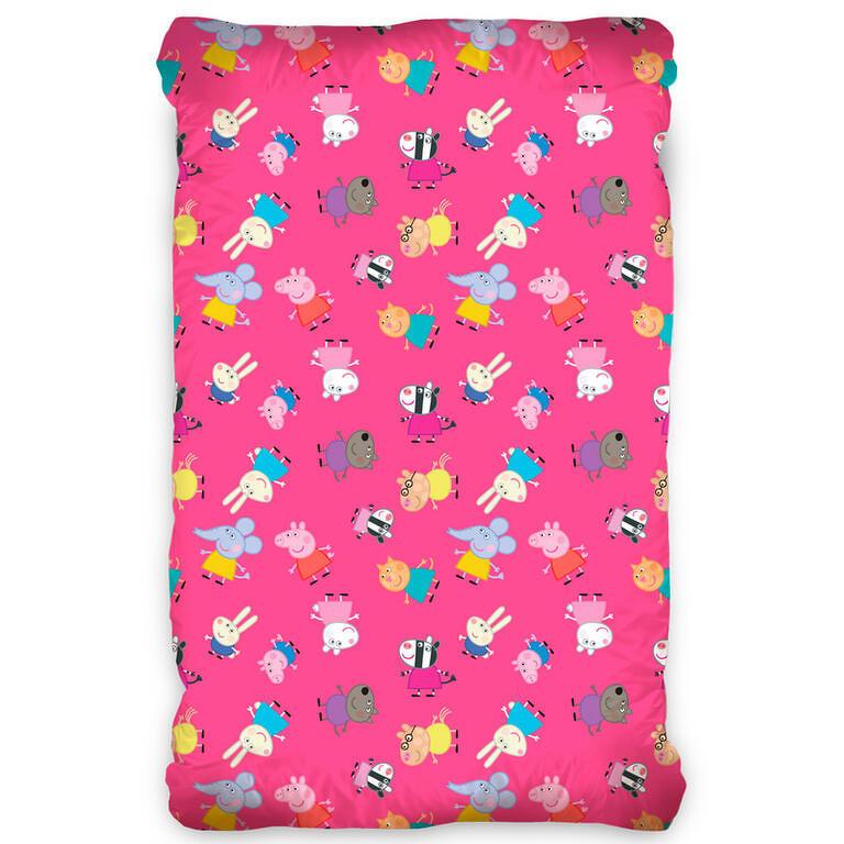 TipTrade bavlna prostěradlo Prasátko Peppa růžové 90x200+ 25