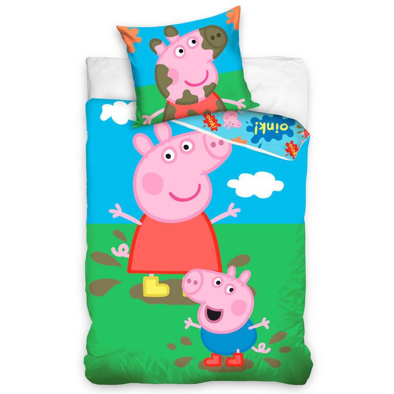 Tiptrade Povlečení PEPPA PIG A GEORGE bavlna 140x200 70x90