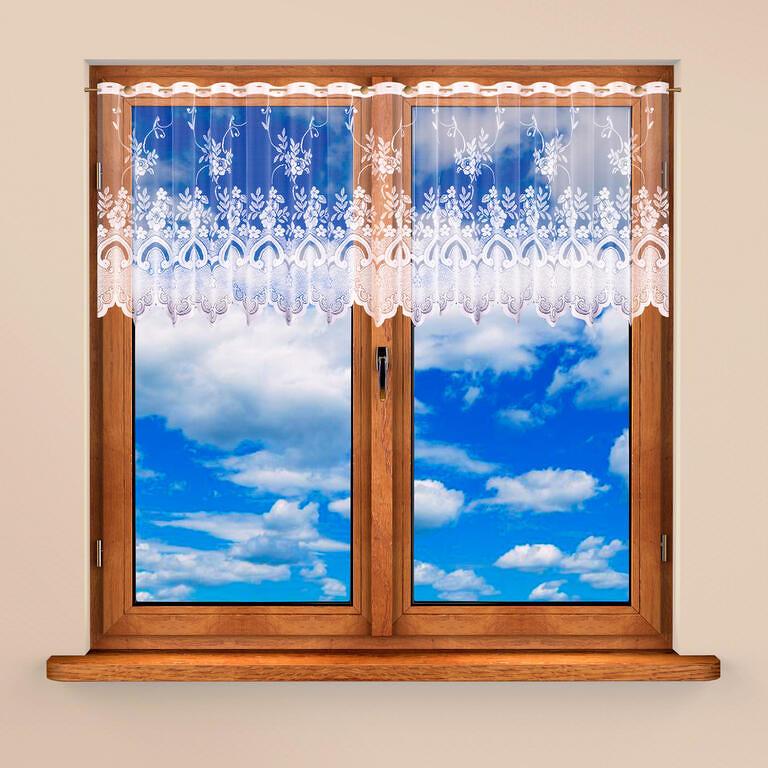 Vitrážková záclona AMELIE 40 x 300 + 60 x 300 cm