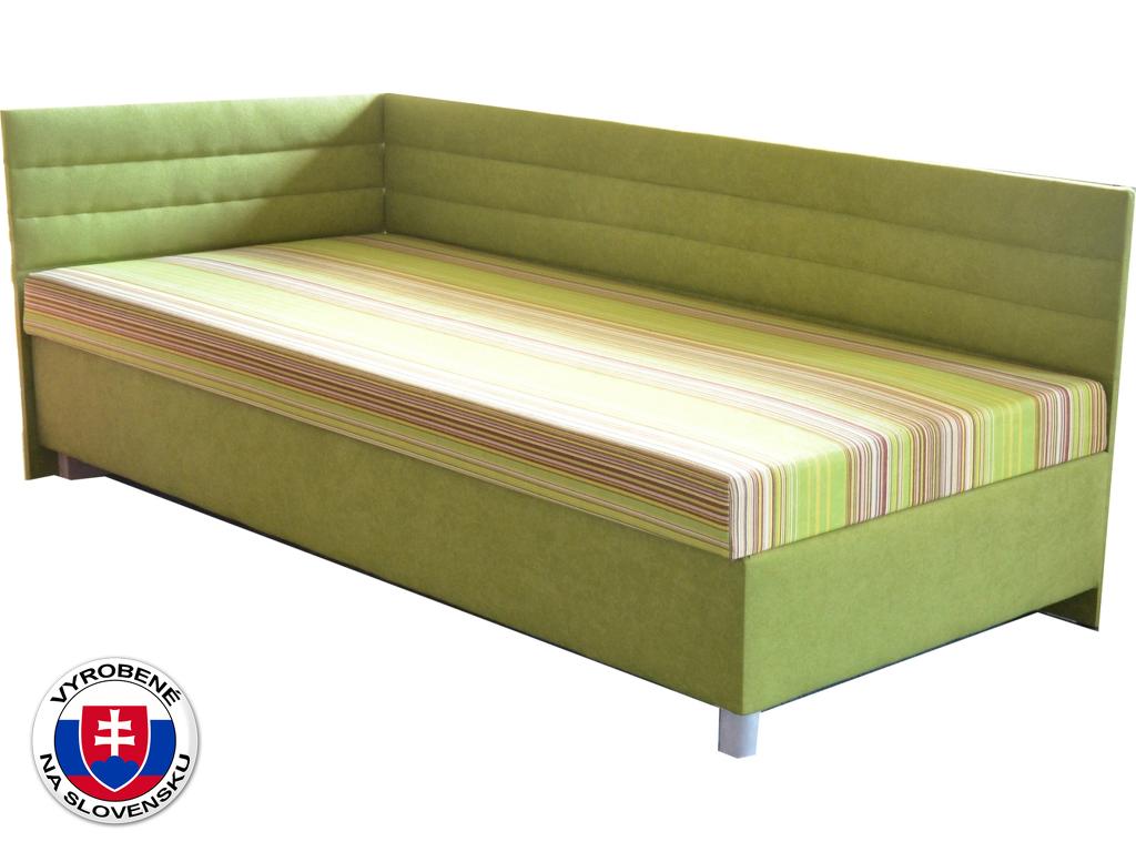 Jednolůžková postel (válenda) 100 cm Etile 2 (se 7-zónovou matrací lux) (L)