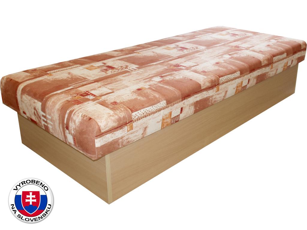 Jednolůžková postel (válenda) 80 cm Benab Roger (racek hnědý) (s matrací)