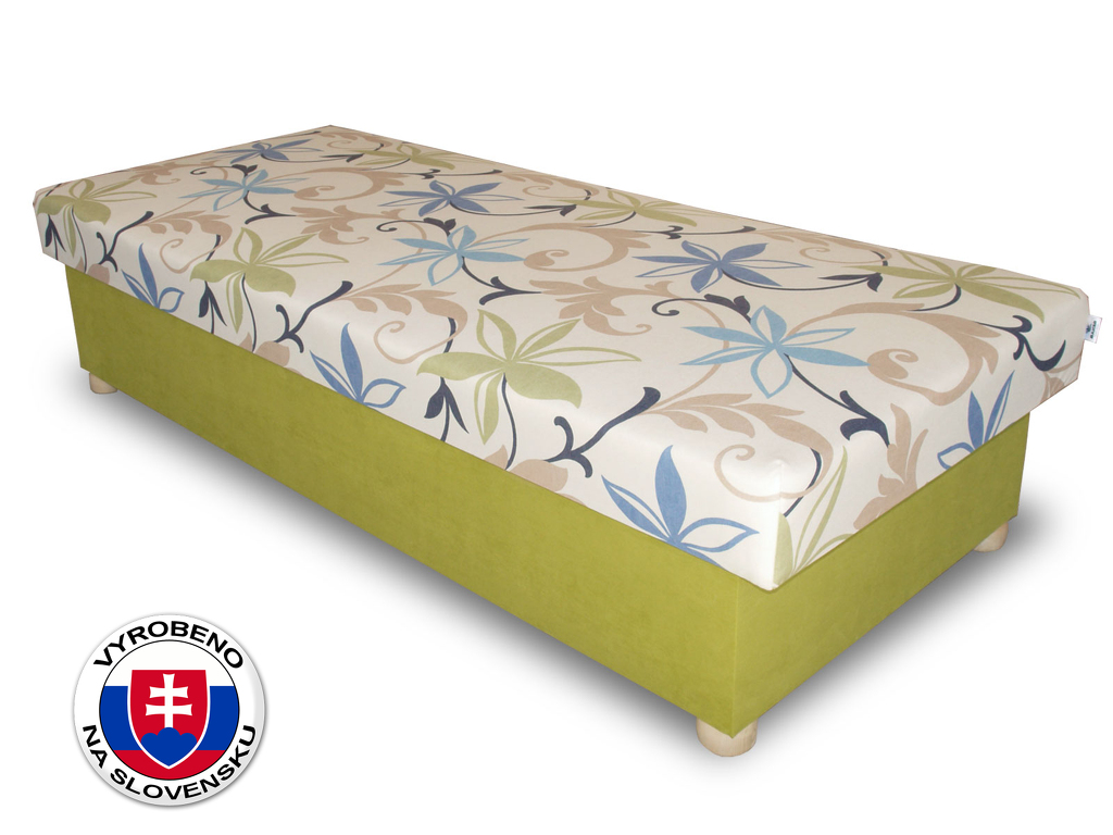 Jednolůžková postel (válenda) 80 cm Benab Solo na masivních nožkách (s matrací)
