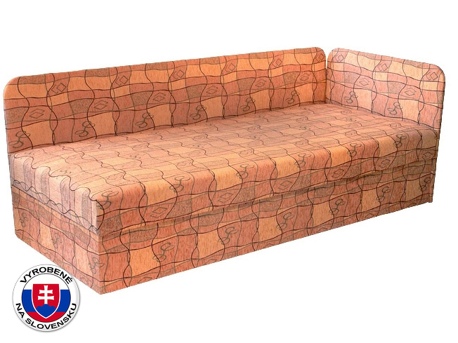 Jednolůžková postel (válenda) 80 cm Edo 4/1 (s molitanovou matrací) (P)