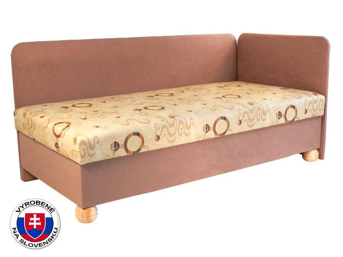 Jednolůžková postel (válenda) 80 cm Siba (se sendvičovou matrací) (P)