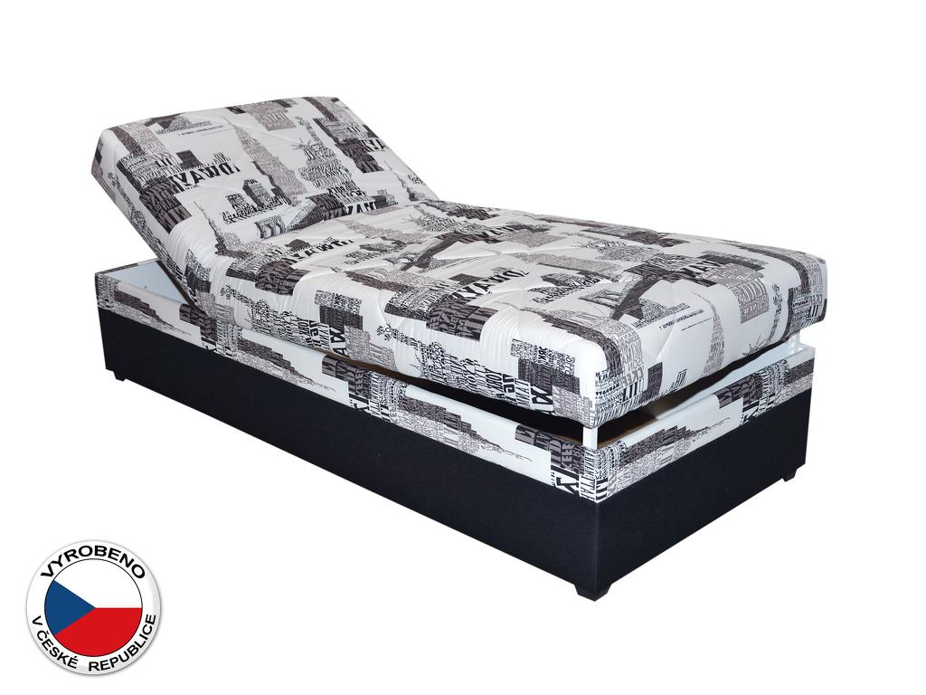 Jednolůžková postel (válenda) 90 cm Blanár Evelina (vzor NYC B 05) (s roštem a matrací)