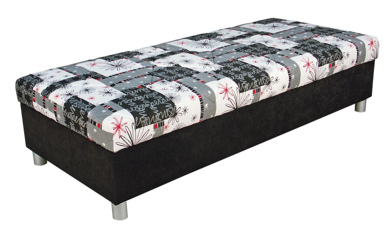Jednolůžková postel (válenda) 90 cm Blanář Inez (šedá) (s roštem a matrací)