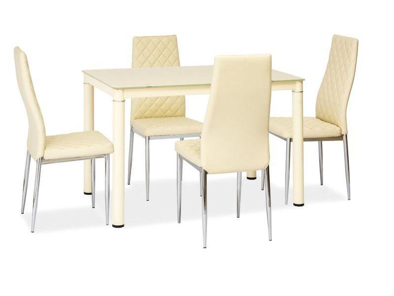 Jídelní stůl Galant (krém) (pro 4 osoby)