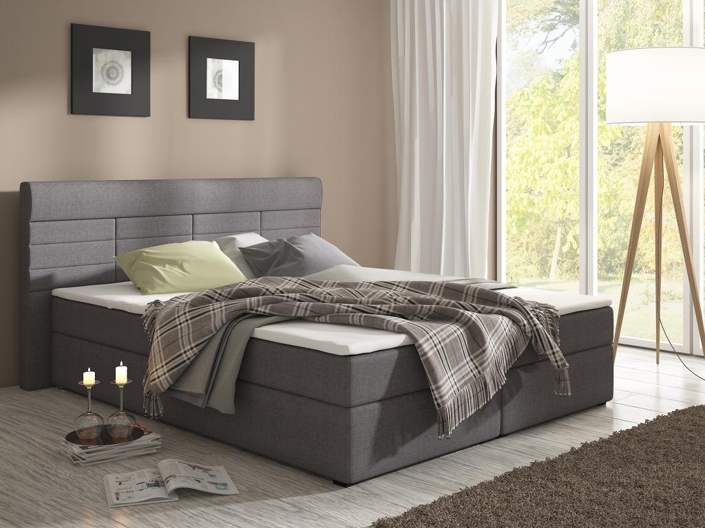 Manželská postel Boxspring 160 cm Torino (s matracemi)