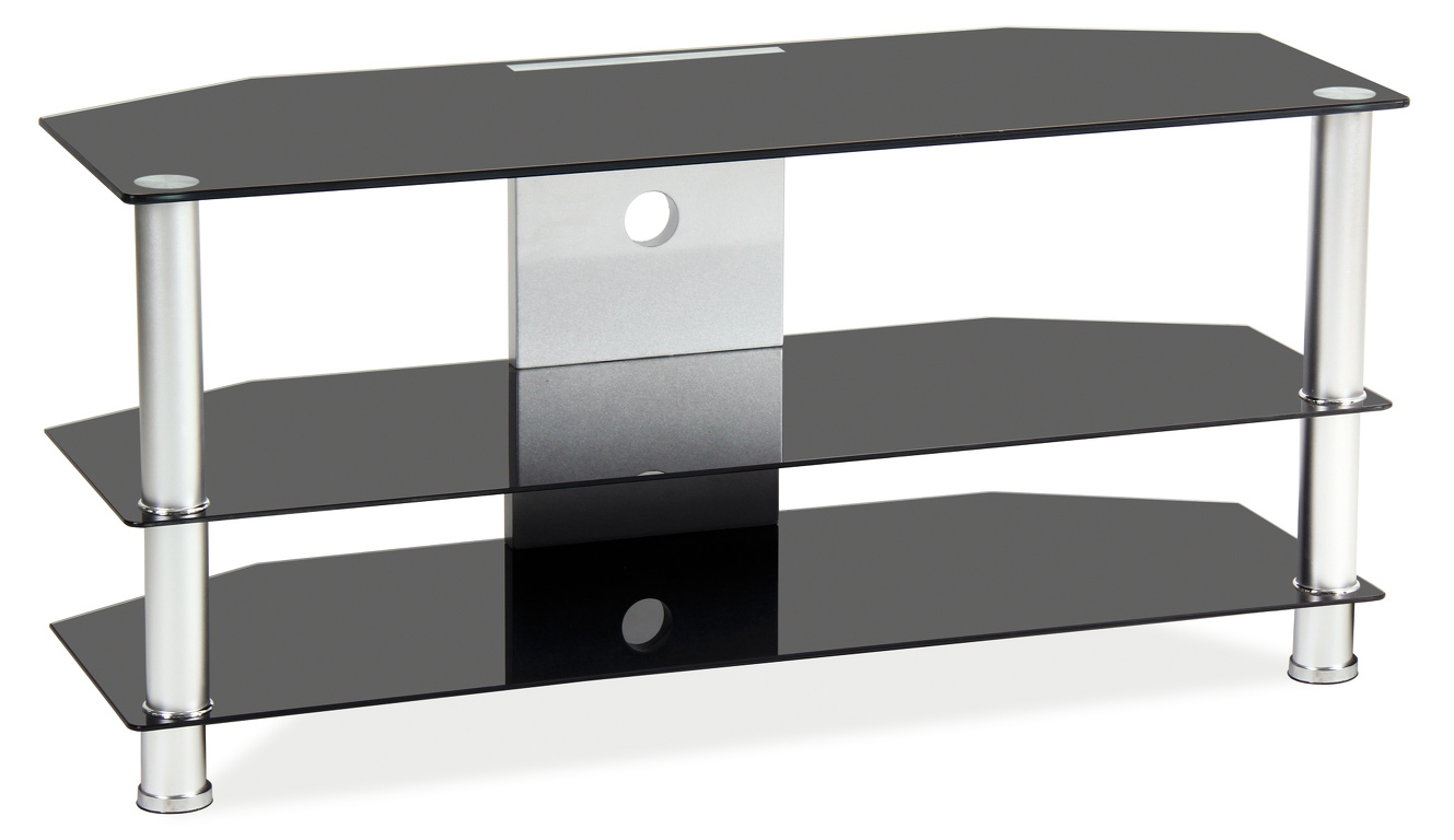 TV stolek TV-032 (černé sklo)